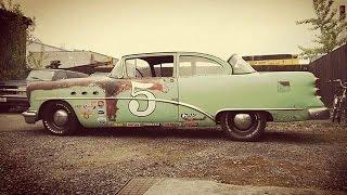 """retard garage! 1954 buick """"lakování střechy"""" plus burnout honda civic Type-R"""