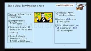 11 Minutes! Share Repurchase and Stock Repurchase for Dividends and Share Repurchases