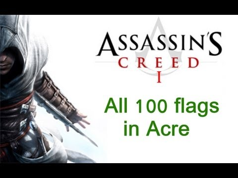 """Assassin's Creed 1"", All 100 flags locations in Acre"