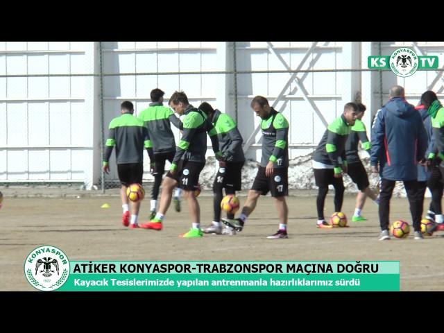 Atiker Konyaspor'umuz yaptığı antrenmanla Trabzonspor maçı hazırlıklarını sürdürdü