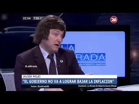 """Javier Milei en """"La mirada"""", Analizando la economia actual de la Argentina 05/03/2018"""
