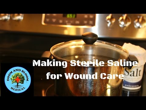 How to make saline solution for wound care