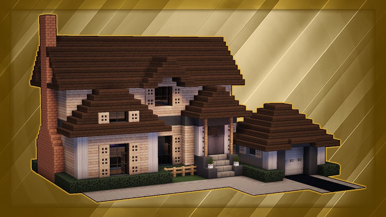 Minecraft  How To Build A Large Suburban House Tutorial   2