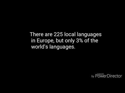 European day of languages 2017 +facts