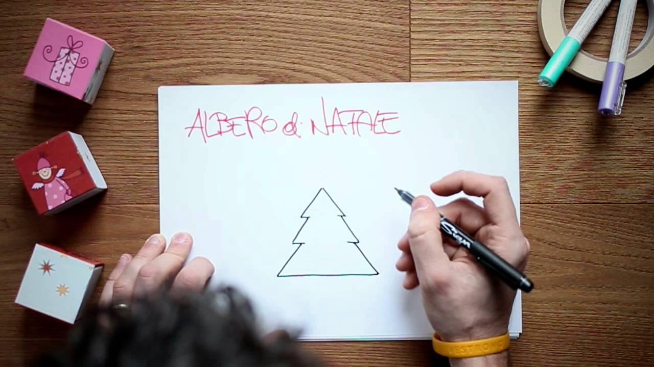 Albero Di Natale Youtube.Come Disegnare Un Albero Di Natale Youtube