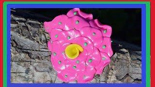 Полимерная глина. Уроки лепки. Как сделать цветок из полимерной глины ?