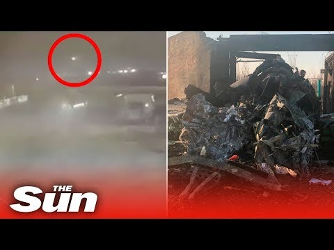 New video shows the moment Iran military shoot down Ukrainian passenger plane killing 176 people
