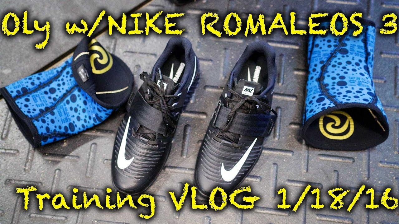 Training VLOG 1 18 - Oly in the Nike Romaleos 3 - YouTube 1dd965ff4