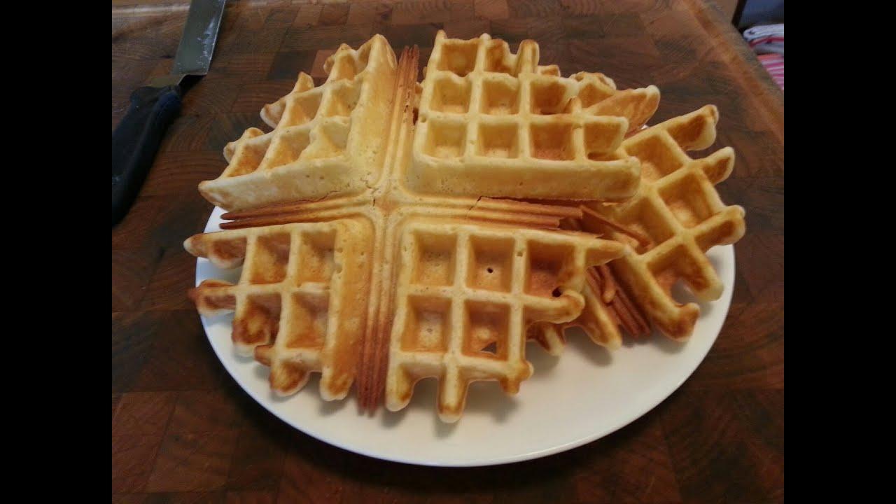 How to make Homemade Belgian Waffles - YouTube