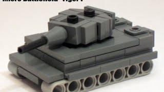 как сделать мини танк тигр из лего