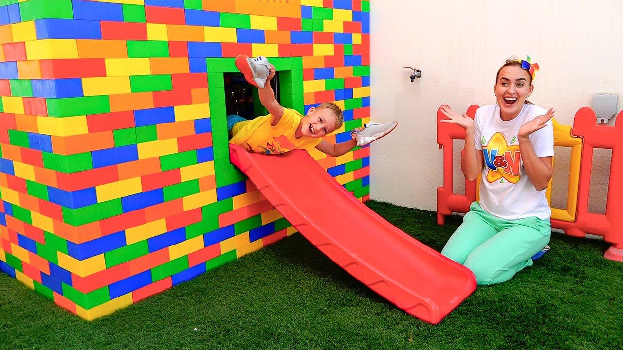 블라드와 니키 빌드 아이 작은 집 - 아이들을위한 최고의 시리즈