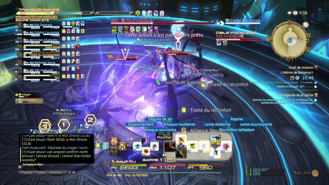 FFXIV Turn 10 First Kill BV FR Zodiark Ninja POV YouTube