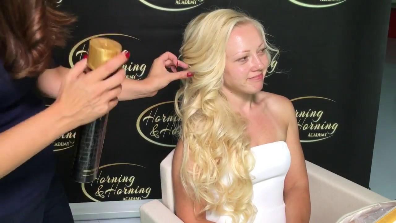 Seitliche Frisur Brautfrisur Voluminose Frisurv Halboffenen Steckfrisur Hairstylist Hairtutoria
