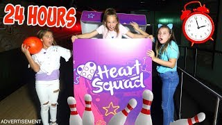 24 HOUR CHALLENGE OVERNIGHT IN BOWLING ALLEY!!