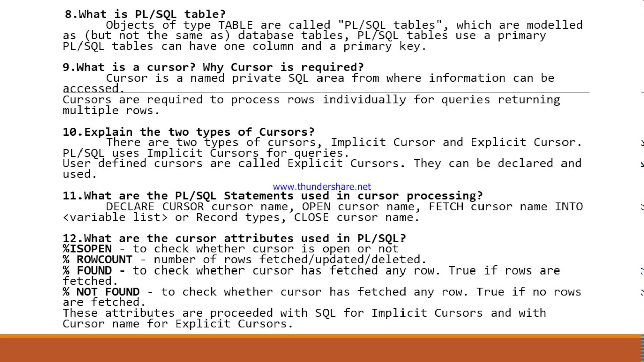 top plsql interview questions and answers top 30 plsql interview questions and answers