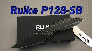 Ruike P128-SB steel blackwash framelock flipper Knife