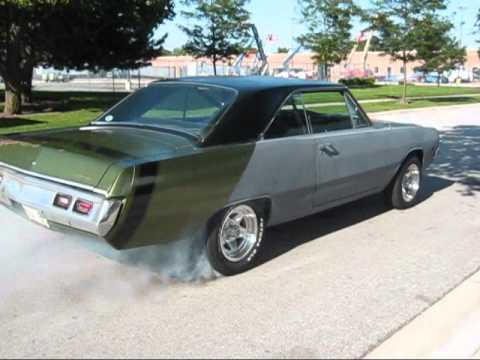 72 Dodge Dart Swinger Burnout - YouTube