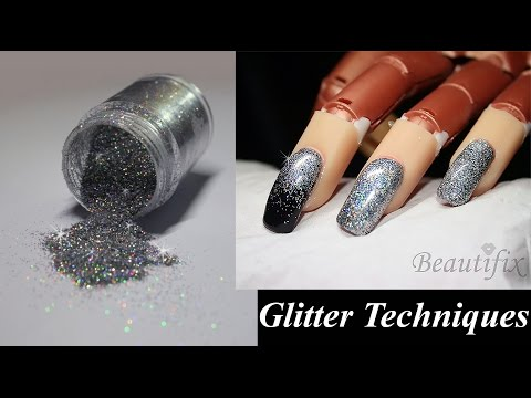 How to: Apply Glitter to nails, 3 Techniques.
