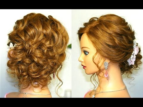 Prom Updo Wedding Hairstyle for Long Hair tutorial