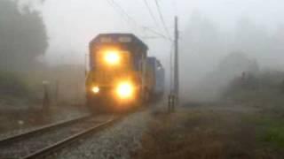 Transap, D-3002 corriendo en la niebla. / Running in the fog