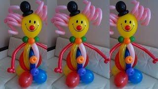 Клоун из воздушных шаров своими руками. Clown made of balloons with their hands.