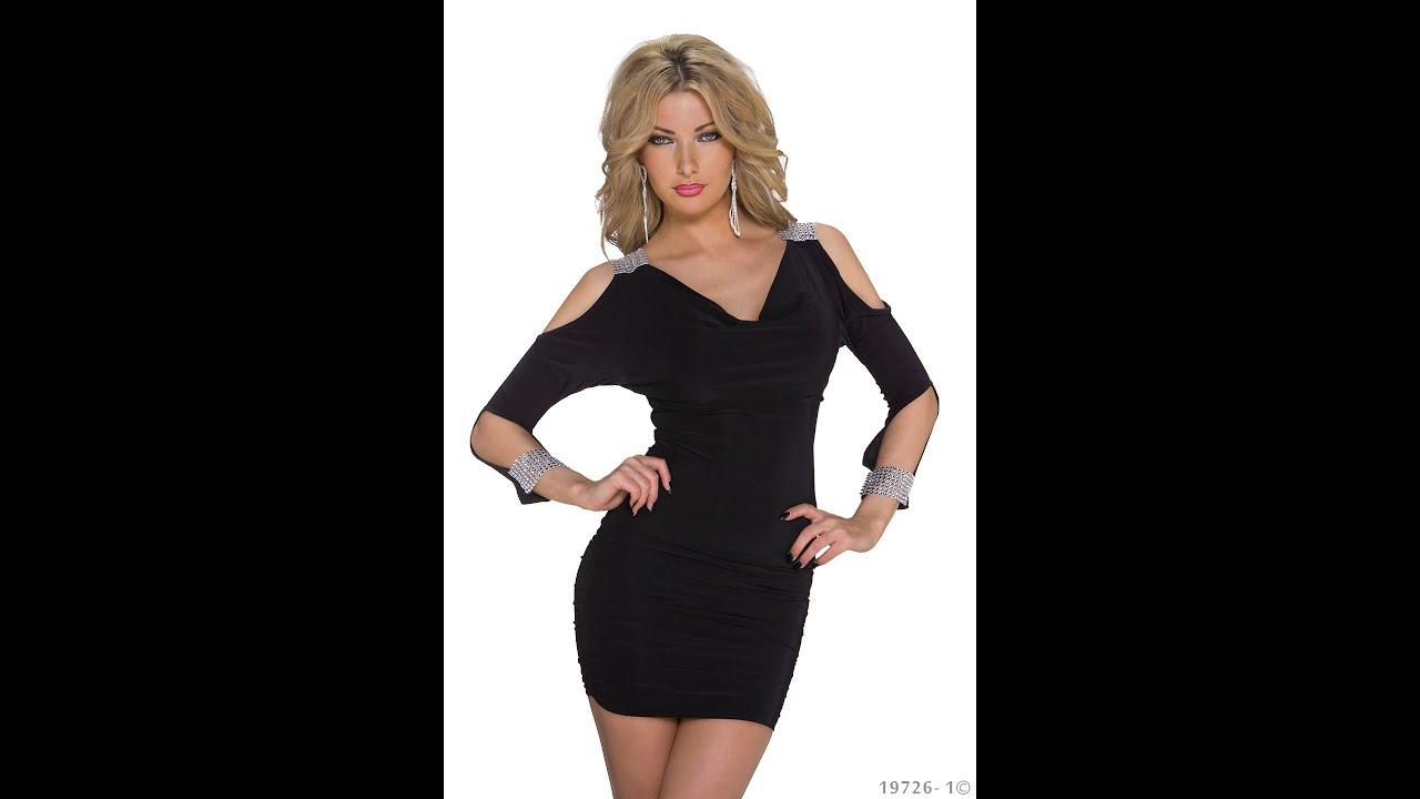Vestidos de noche negro con plateado