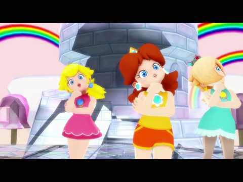 Happy Synthesizer MMD [English Version] (Ultra Smash Peach, Daisy, and Rosalina)