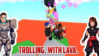 Roblox: Trolling People on THE FLOOR IS LAVA