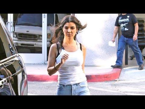 Kourtney Kardashian Enjoying The 80 Degree Weather In Calabasas