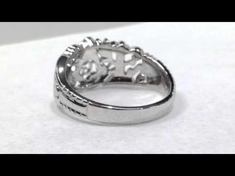 1108187397650 10k white gold Masonic ring at BrocksJewelers.com