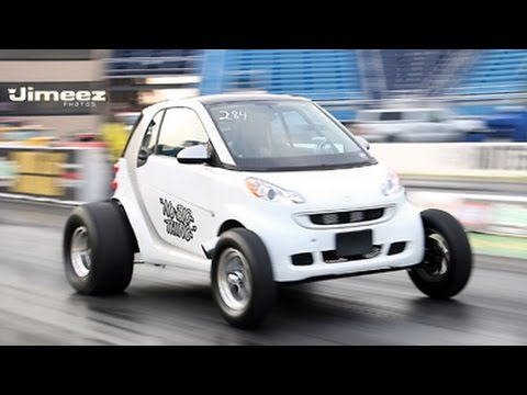 Nu Thing Smart Car First Time Out With New Setup Runs 10 70 125 80mph