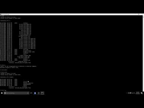 How to open files/folders in Command Prompt