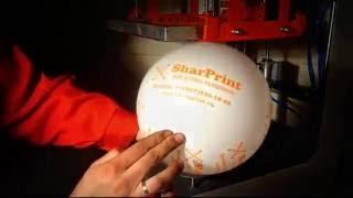 Печать на шарах(ПСН 001 печатает на шарах, футболках, файлах, бумаге, дереве и просто ровных поверхностях., 2016-09-24T17:23:37.000Z)