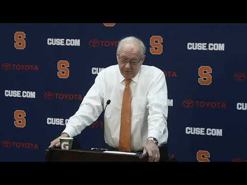 Jim Boeheim postgame news conference after Syracuse basketball vs. Georgetown (2018)