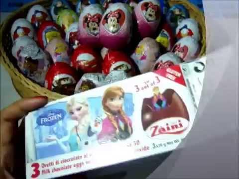 ของเล่นแกะกล่องไข่อีสเตอร์ แกะไข่ ช็อกโกแลต Eggs Mickey minie  Toy story  Donald pooh Frozen