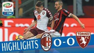 Milan   Torino 0 0   Highlights   Giornata 14   Serie A T M 201718