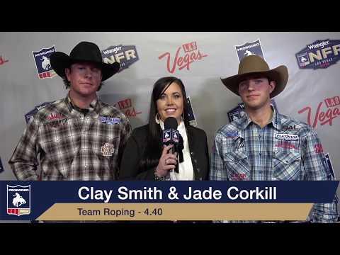2019 #WranglerNFR | Round 2 Winner | Team Roping | Clay Smith & Jade Corkill | 3.6s