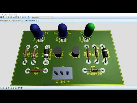 CLIP INDICATOR POWER AMPLIFIER - Schematic, PCB, 3D Visual