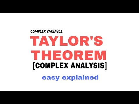 TAYLOR'S THEOREM IN COMPLEX ANALYSIS 🔥