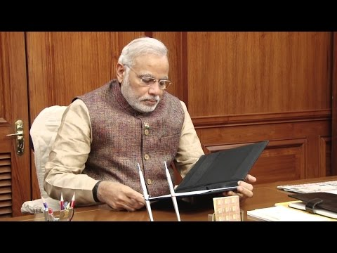 Prime minister Narendra Modi leads a discussion of senior ministers on the Cauvery issue
