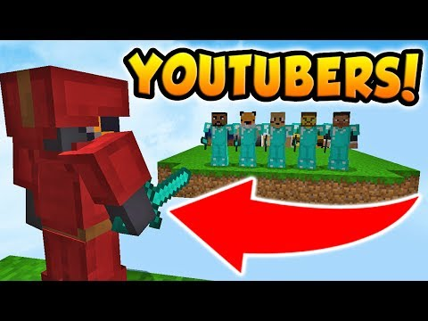 GOING AGAINST 5 YOUTUBERS IN MINECRAFT BED WARS!
