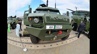 Бронеавтомобиль Volat V-1 / МЗКТ-490100 с установленным на нем  боевым модулем АДУНОК