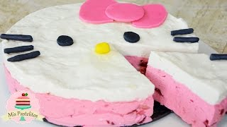 PAY DE HELLO KITTY | SIN HORNO | MIS PASTELITOS