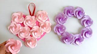【ペーパーフラワー】ツイストローズの壁飾り  【Paper Flower】 Twist Rose Wall Decoration
