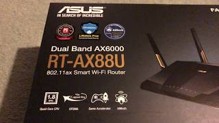 Unboxing the ASUS RT-AX88U AX6000 802.11ax Wi-Fi router
