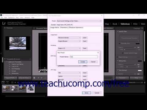 Lightroom Classic CC Tutorial Adding Text Overlays to a Slideshow Adobe Training