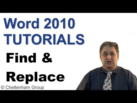 Word 2010 Tutorial | Advanced Find & Replace | Full Course