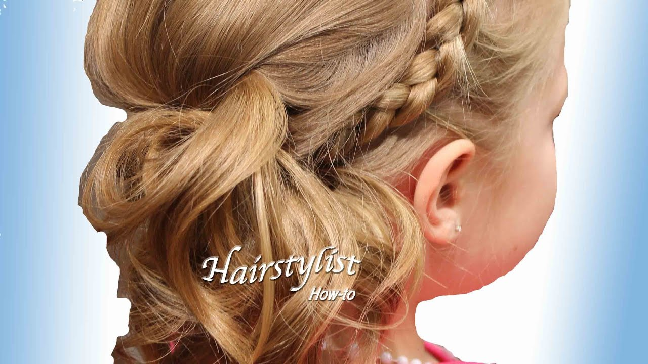 Asymmetrical Updo with a Dutch Braid Headband (Hair ...