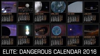 Elite: Dangerous. A4 Calendar for 2016. Locations