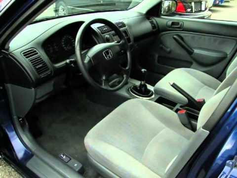 Marvelous 2001 Honda Civic 4dr Sdn DX Manual (Chilliwack, British Columbia)